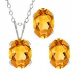 Fancy Wedding Pendant Set (PS-1053-W)