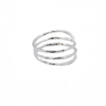 Sterling Silver Hammered Wrap Ring (R-1432)
