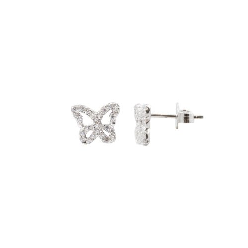 Sterling Silver CZ Hallow Butterfly (ST-1365)