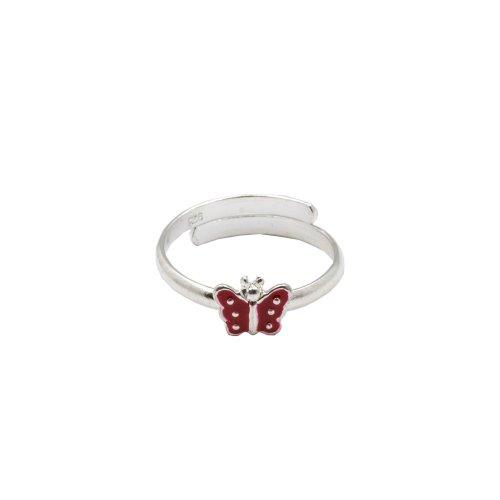 Sterling Silver Mini Enamel Butterfly Toe Ring (TR-1031)