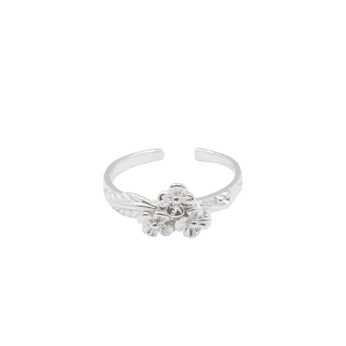 Sterling Silver Flower Cluster Toe Ring (TR-1033)