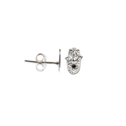 Sterling Silver Hamsa Stud Earrings (ST-1368)
