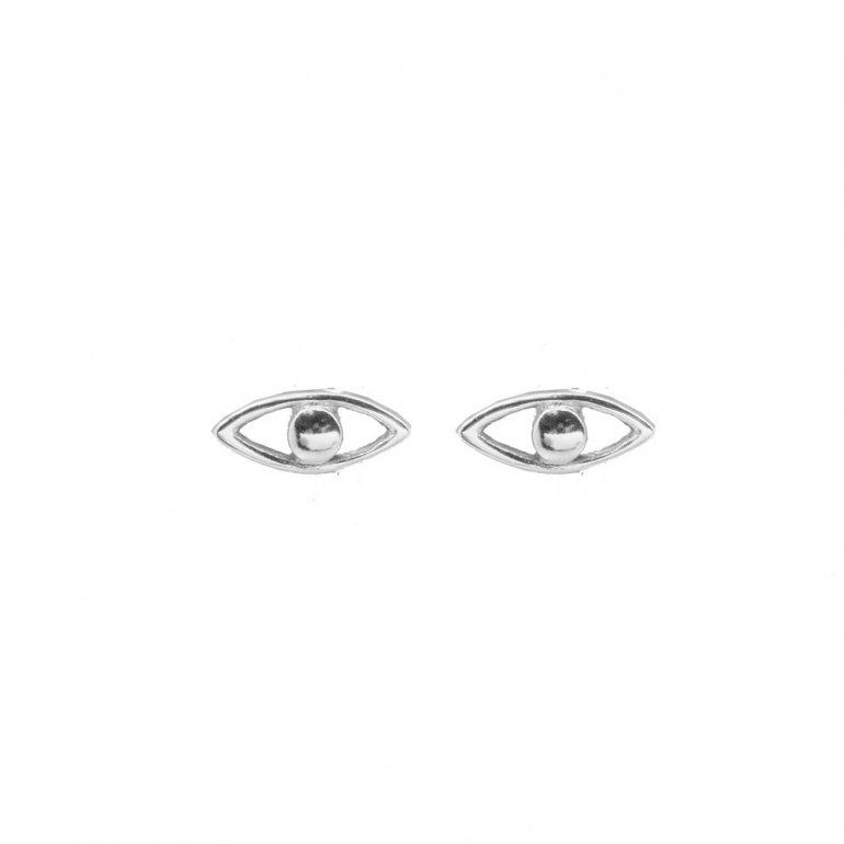 a429be3fd Sterling silver Plain Evil Eye Studs (ST-1379) - House of Jewellery