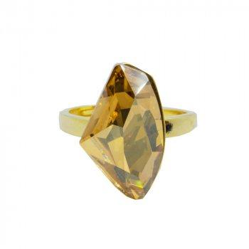 Sterling Silver Swarovski Stone Ring (R-1453-G)