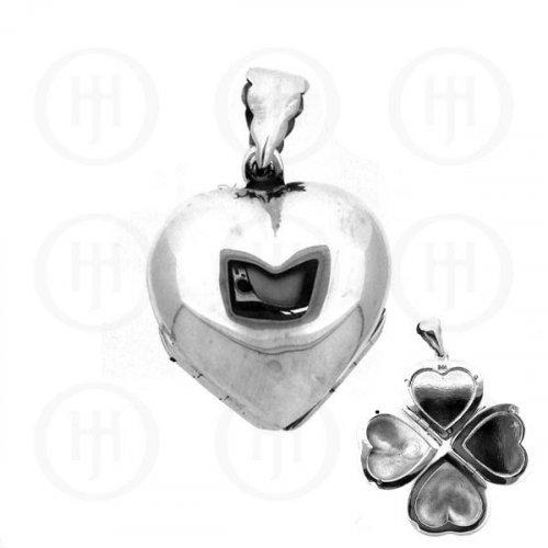 Silver Plain Heart Locket 30mm x 30mm (LOC-PH-1044)