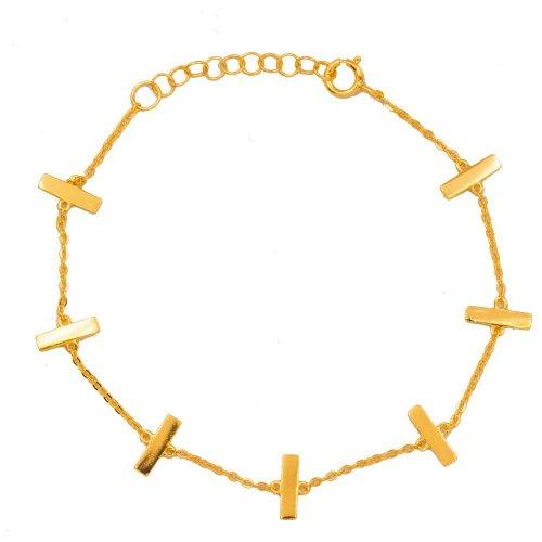 Silver Flat Bar Bracelet (BR-1340)
