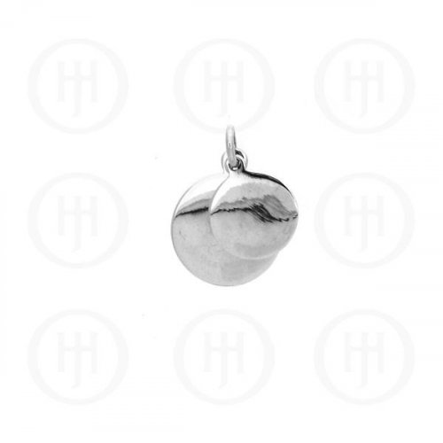 Silver Double Round Dog-Tag Pendant (DT-C-103)