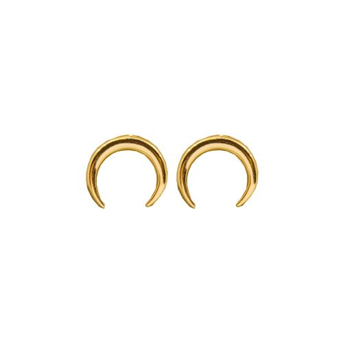 Sterling Silver Plain Crescent Moon Stud (ST-1390)
