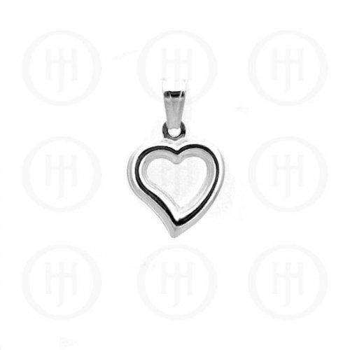 Silver Heart Pendant (P-1003-20)