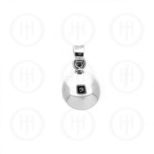 Silver 12mm Ball Pendant (P-1090-12)