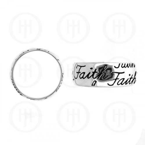 Silver Faith Band Ring (R-1005)