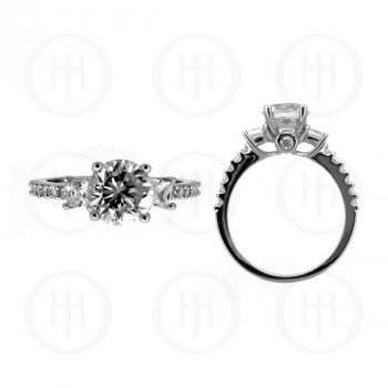 Silver Rhodium Plated CZ Ring (R-1096)