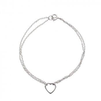 Tiffany Heart Silver Fancy Charm Bracelet (BR-1197)