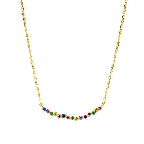 Sterling Silver Assorted Rainbow Necklace (N-1363)