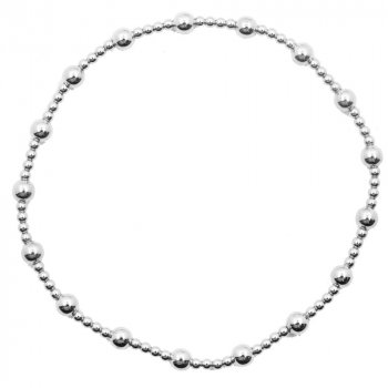 Sterling Silver 4mm Assorted Stretch Bracelet (SB-1027)