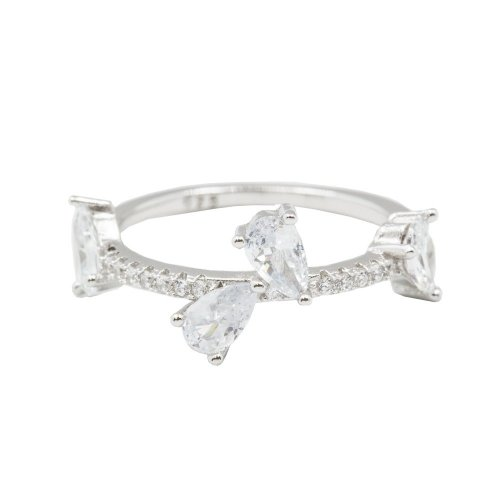 Sterling Silver Assorted CZ Ring (R-1489)