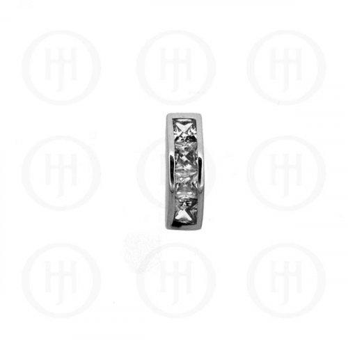 Silver CZ Pendant (P-1106)