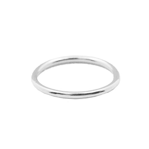 Sterling Silver Plain Stackable Ring (R-1492)
