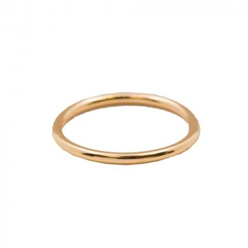 Sterling Silver Rose Gold Plated Plain Stackable Ring (R-1492-R)