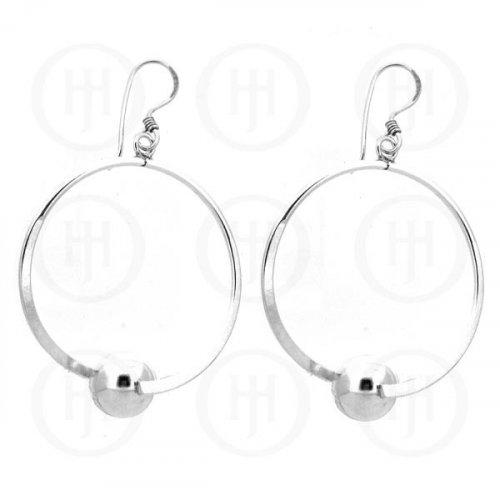 Silver Dangle Ball Earrings (SPS-LHB)