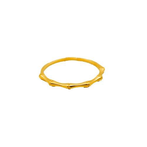 Plain 10K Gold Minimalist Bamboo Ring (GR-10-1077)