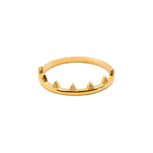 Diamond 7 Pointed 10K Gold Ring (GR-10-1087)