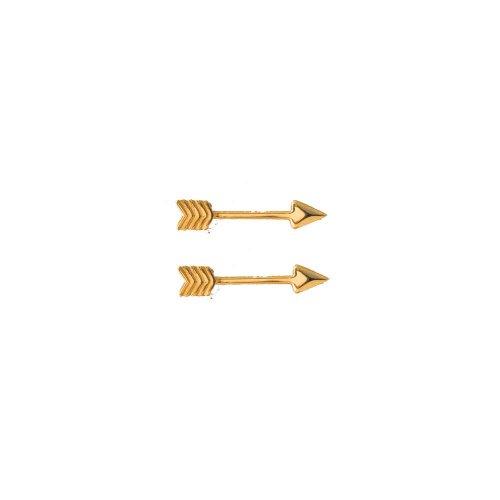 Plain 10k Gold Mini Arrow Studs (GE-10-1152)