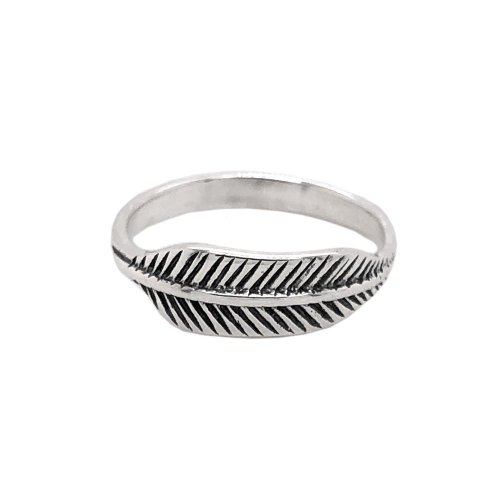 Sterling Silver Plain Feather Ring (R-1538)