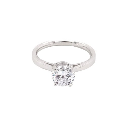 Sterling Silver Classic Style CZ Ring (R-1385)