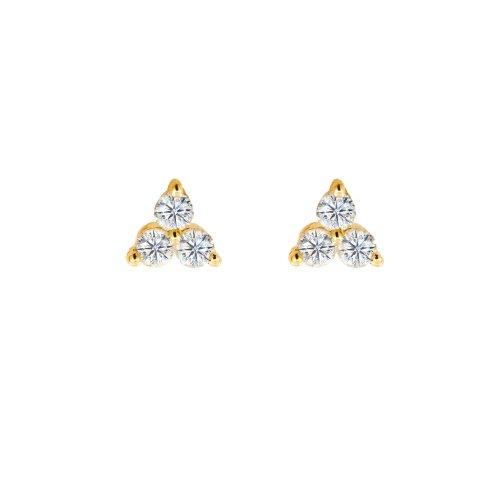 Diamond 14K Gold Cluster Studs 0.2CTW (GE-14-1165)