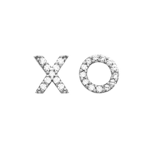 Sterling Silver XO Studs with CZ (ST-1203)