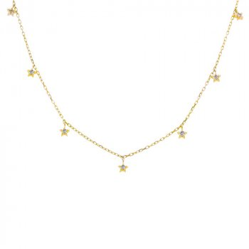 10K Gold & Diamond Star Necklace .08CTW (GN-10-1175)