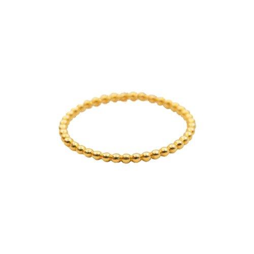 Plain 10K Gold Bubble Ring (GR-10-1074)