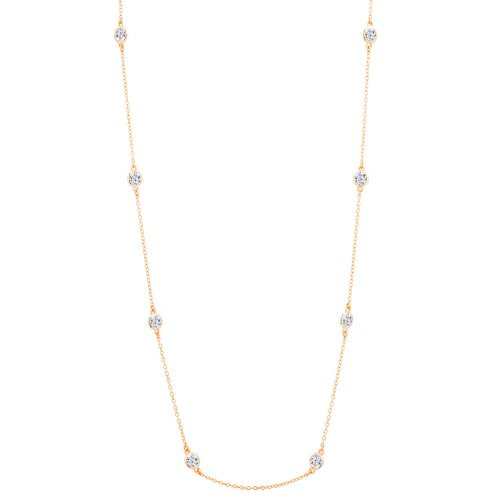 Silver Tiffany Inspired CZ by the Yard Necklace (N-1007-R)