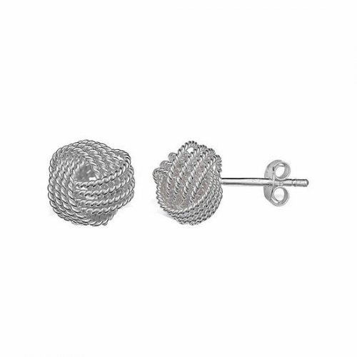 Silver Ribboned Love knot 5mm(ST-1182-8)