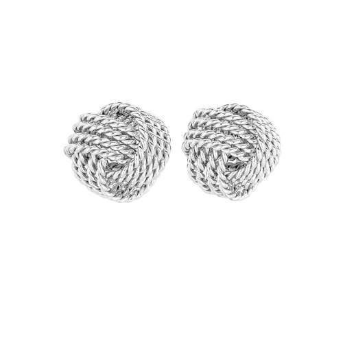 Silver Ribboned Love knot 10mm(ST-1182-10)