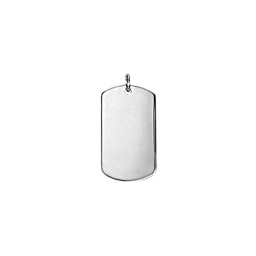 Silver Dog-Tag Pendant (Large) (DT-100)Catalog Products Preview