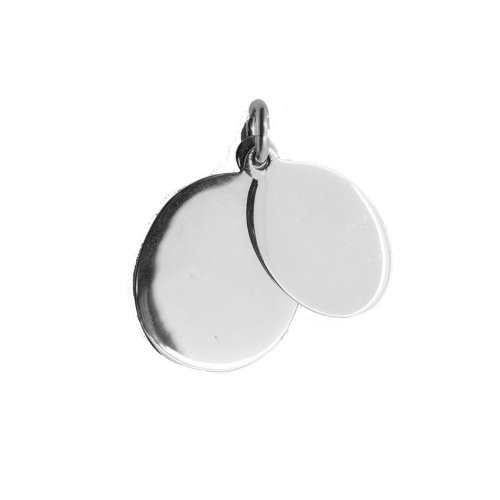 Silver Double Oval Dog-Tag Pendant (DT-O-103)