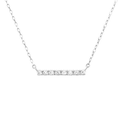 Diamond 10K Gold Bar Necklace .1CTW (GC-10-1170)