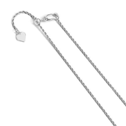Adjustable Rhodium Plated Rope Chain (ROPE30-RH-ADJ)