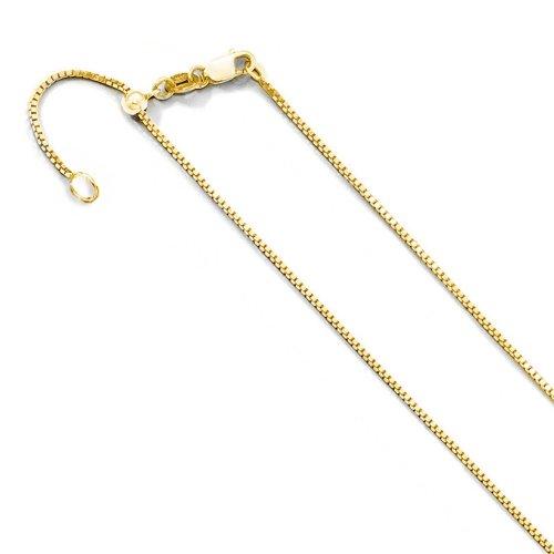 Adjustable Gold Plated Box Chain (BOX24-G-ADJ)