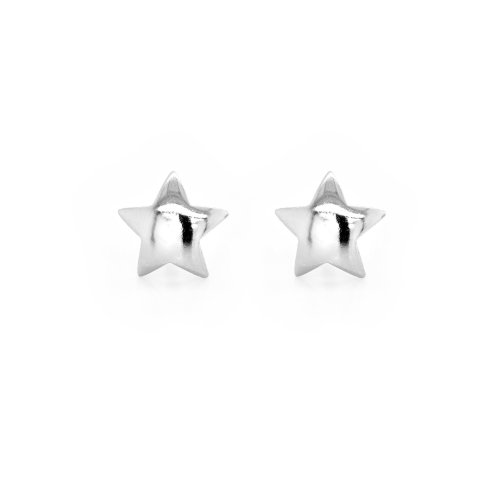 Sterling Silver Plain Star Studs (ST-1501)