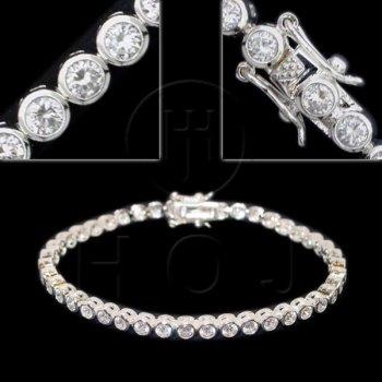 Silver CZ Tennis Bracelet 4mm (BR-CZ-102-4)