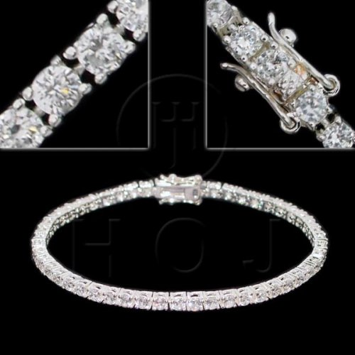 Silver CZ Tennis Bracelet 3mm (BR-CZ-100-3)