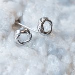 Sterling Silver Large Love Knots (ST-1369)