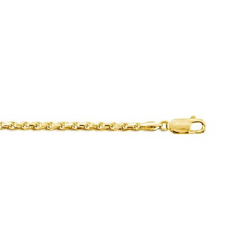 Sterling Silver Gold Plated Basic Rope Chain 2.0mm (ROPE40-G)
