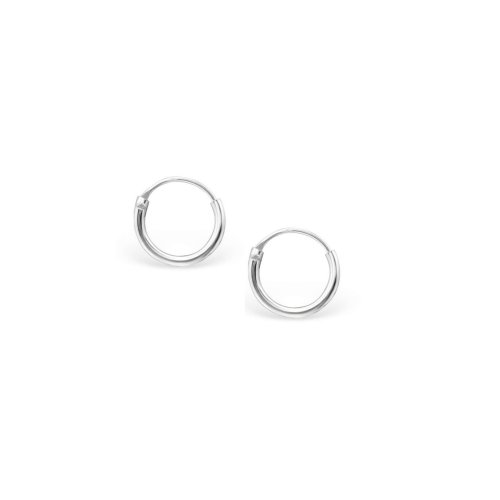 Silver Plain 3mm x 12mm Hoop (HP-3-12)