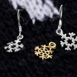 Plain Small Gold Plated Snowflake (P-1260-G)
