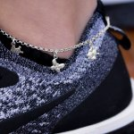 Silver Plain Italian Bee and Butterfly Anklet ANK-1026