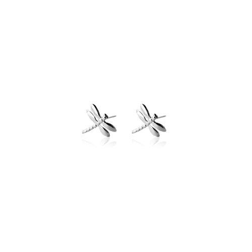 Silver Plain dragonfly Stud Earrings (ST-1013)